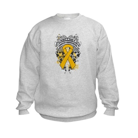 Support Appendix Cancer Cause Kids Sweatshirt