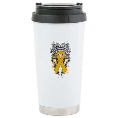 Support Appendix Cancer Cause Ceramic Travel Mug