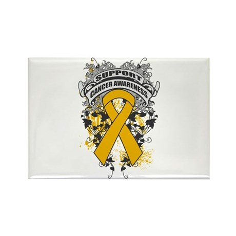 Support Appendix Cancer Cause Rectangle Magnet
