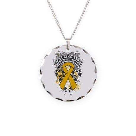 Support Appendix Cancer Cause Necklace Circle Char