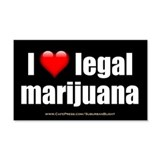 """Love Legal Marijuana"" Wall Decal"