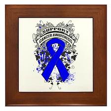 Support Anal Cancer Cause Framed Tile