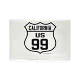 US Route 99 - California Rectangle Magnet (10 pack
