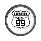 US Route 99 - California Wall Clock