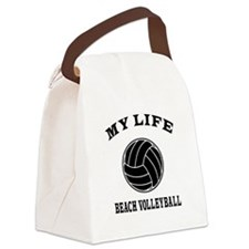 My Life Beach Volleyball Canvas Lunch Bag
