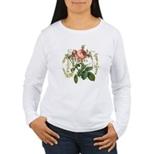 Pink Rose French ephemera Long Sleeve T-Shirt