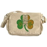 Irish Masons Clover Messenger Bag