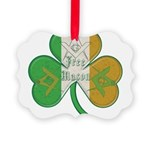 Irish Masons Clover Ornament