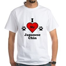 I Heart My Japanese Chin T-Shirt