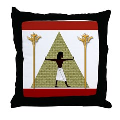 Egyptian Print Art Throw Pillow