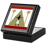 Egyptian Print Art Keepsake Box