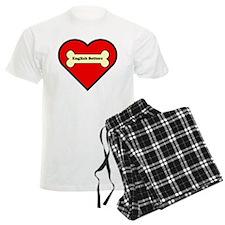 English Setters Heart Pajamas