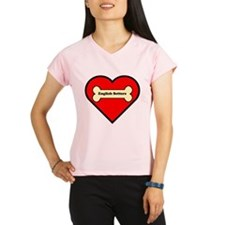 English Setters Heart Peformance Dry T-Shirt