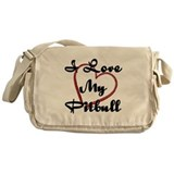 Funny Pitbull Messenger Bag