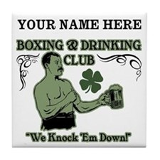 Personalizable Irish Club Tile Coaster