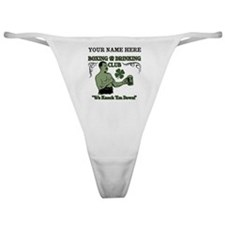 Personalizable Irish Club Classic Thong
