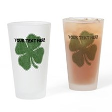 Personalizable Vintage Shamrock Drinking Glass