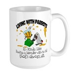 Living With Parrots - Blender Mug