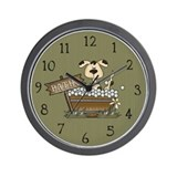 Cute Bath time Wall Clock