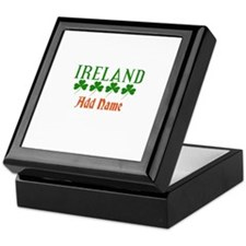 Irish Shamrocks Add Name Keepsake Box
