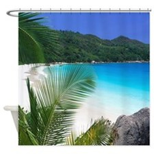 Tropical Paradise Beach Shower Curtain