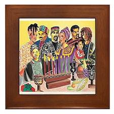 Kwanzaa Family Framed Tile