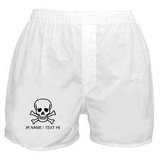 Custom Skull And Crossbones Boxer Shorts