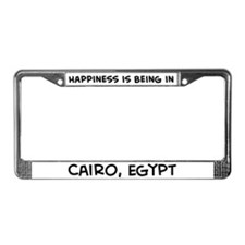 Happiness is Cairo License Plate Frame
