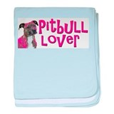 pitbull lover baby blanket