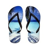 Paradise Tropical Island Flip Flops