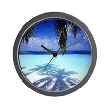Paradise Tropical Island Wall Clock