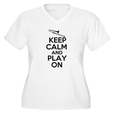 Keep Calm and Play On Trombone Plus Size T-Shirt