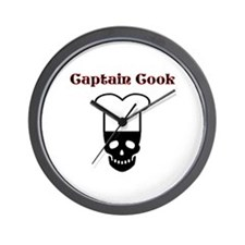 Captain Cook Pirate Wall Clock