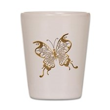 Golden Butterfly Shot Glass