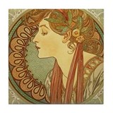 Unique Alphonse mucha Tile Coaster