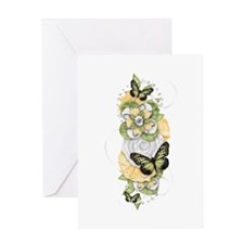 Butterfly Sensations Green Greeting Card