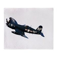 Corsair fighter Throw Blanket