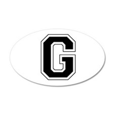 Collegiate Monogram G Wall Decal