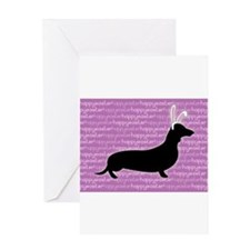 Unique Doxie Greeting Card