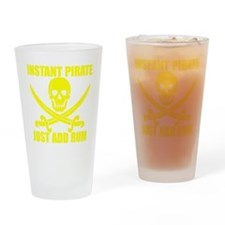 Yellow Instant Pirate Drinking Glass