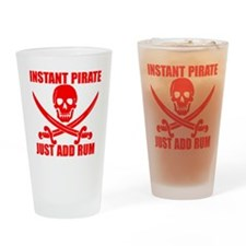 Red Instant Pirate Drinking Glass