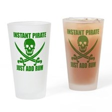 Green Instant Pirate Drinking Glass