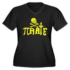 Pi-rate Yellow Plus Size T-Shirt