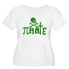 Pi-rate Green Plus Size T-Shirt