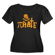 Pi-rate Orange Plus Size T-Shirt