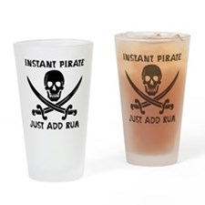 Instant Pirate Drinking Glass