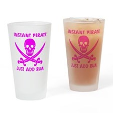 Instant Pirate Pink Drinking Glass