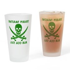 Instant Pirate Green Drinking Glass