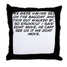 Cute We're moving Throw Pillow