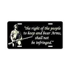 Right to Bear Arms Aluminum License Plate
